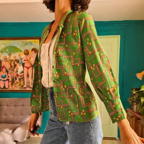 חולצה ירוקה עדינה מידה S/M