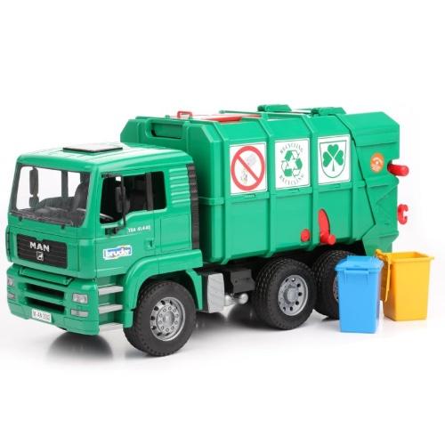 אוטו זבל לילדים מן MAN ירוק