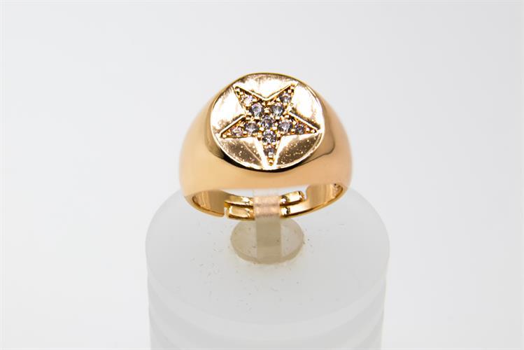 טבעת עבה עם כוכב משובץ
