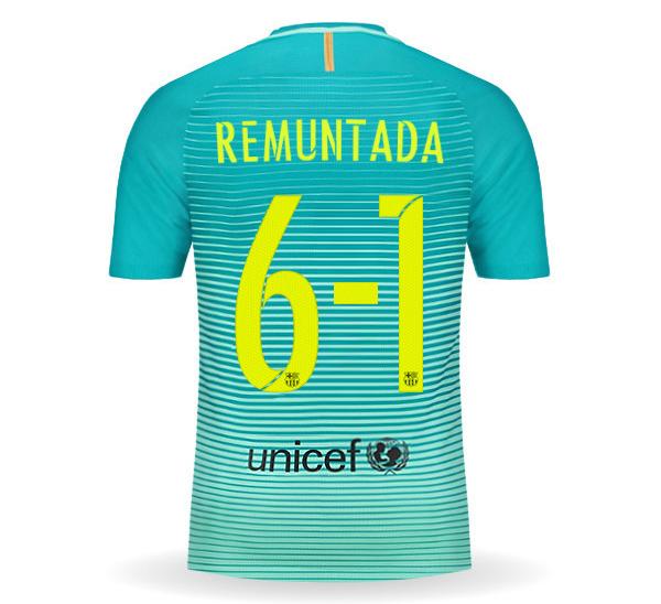 חולצת משחק ברצלונה שלישית REMUNTADA מהדורה מוגבלת!