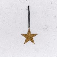 כוכב שטוח ממתכת - זהב חלודה (גודל S)