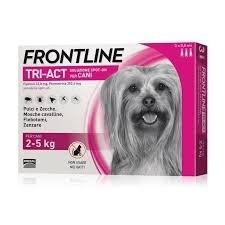 """אמפולות פרונטליין טרי-אקט לכלב עד 2-5 ק""""ג"""
