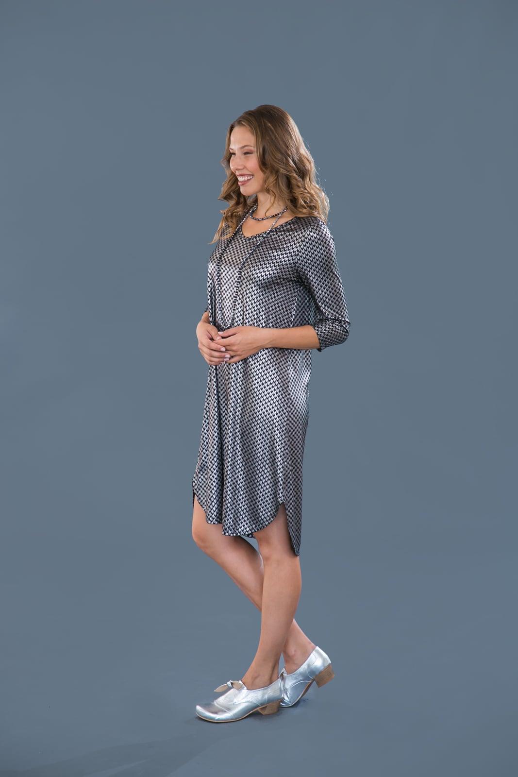 שמלת מונקו ירוקה שרוול 3\4