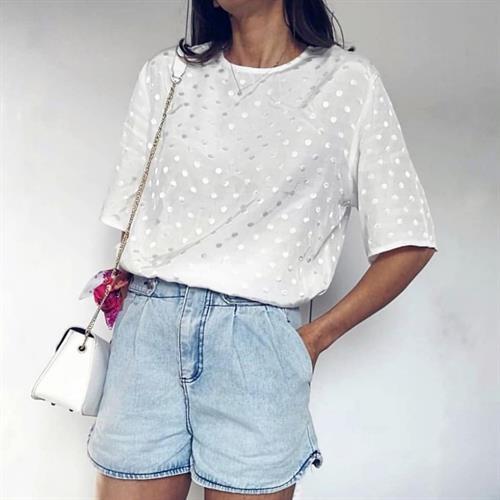 חולצת בלנקה פריזאית