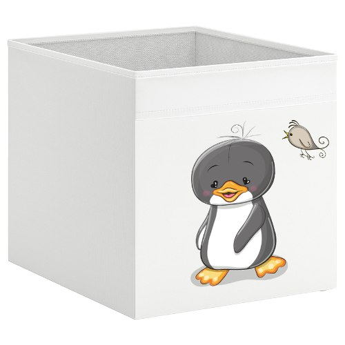 קופסת אחסון לכוורת עם הדפס-  פינגווין