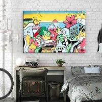 ציור לסלון של האמן כפיר תג'ר