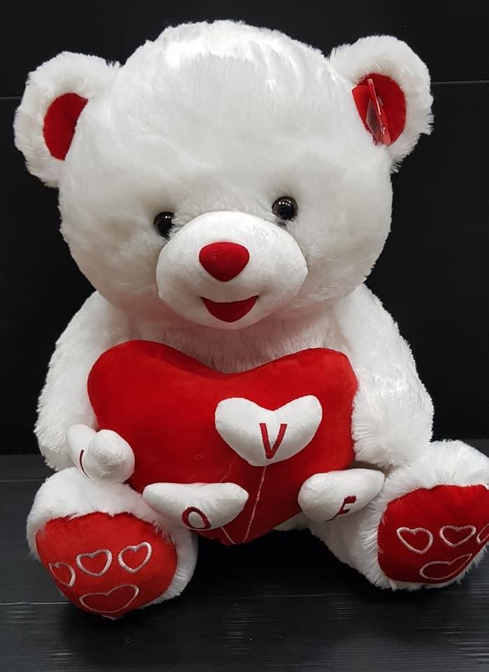 דובי עם לב  80סמ מקט158
