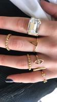 טבעת פלורי עבה זהב