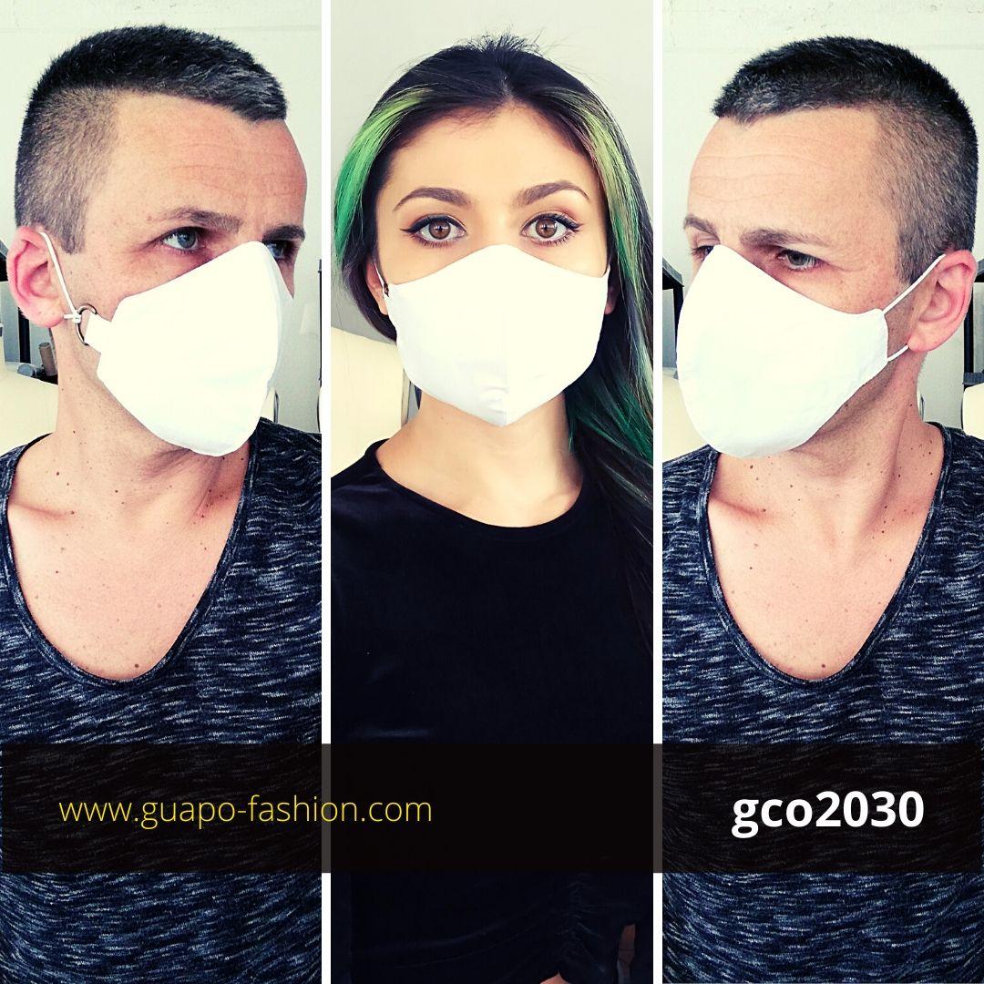 מסכת בד לבנה מכותנה cloth mask