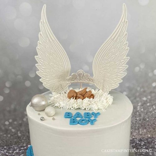 זוג כנפיים ענק דגם 1 | ליצירה בשוקולד | כנפיים של מלאך לקישוט עוגות מיוחדות | חדש 2021