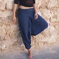 מכנסי אלאדין כחול נייבי מכותנה נפאלית