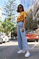 ג'ינס פדלפון תכלת גבוה