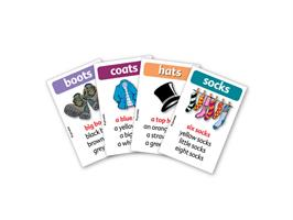משחק רביעיות באנגלית gamelish | מדברים על בגדים  talking about clothes