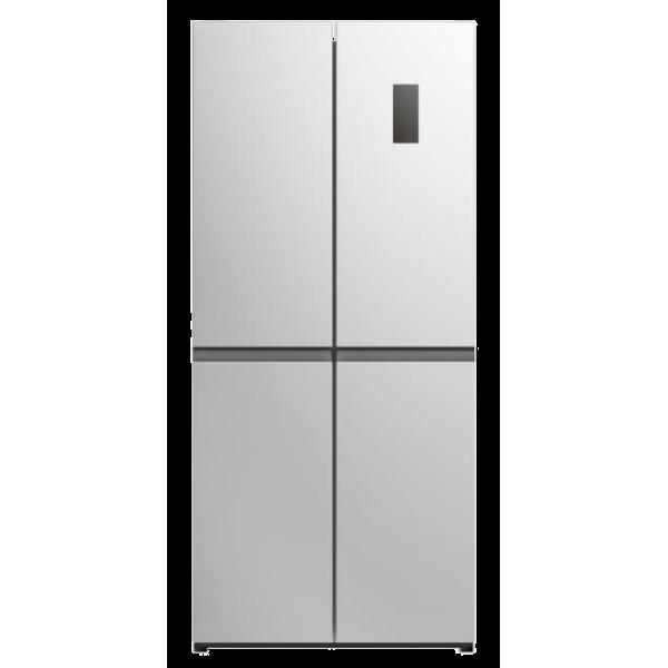 מקרר 4 דלתות זכוכית TELSA זכוכית צבע: לבן / סילבר / שחור