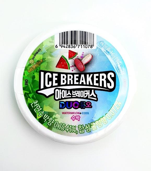 ice breakers סוכריות מרעננות בטעם אבטיח