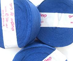 חוטי טריקו פרוסים, חוטי טריקו פרוסים לסריגה, חוטים לסריגת שטיחים, חוטי טריקו, סריגה בטריקו, חוטי טריקו פרוסים צבע כחול, חוטי טריקו צבע כחול רויאל