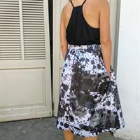 חצאית נילון יפני - SPLASH