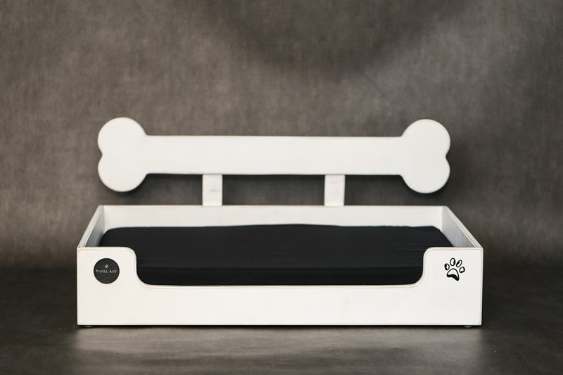 מיטה לכלב - בונזי XL לבן ווש