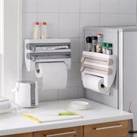 מתקן  למטבח המיועד לנייר מגבת, נייר כסף, ניילון נצמד וכמדף לתבלינים