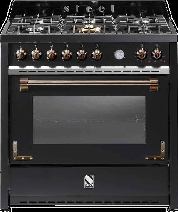 תנור בישול ואפיה משולב Steel דגם OXFORD 90 X9F-6W Bronze