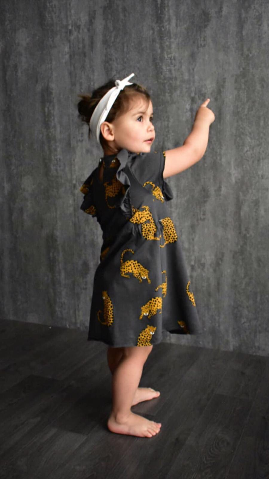 שמלה עם פרינט נמר ORO