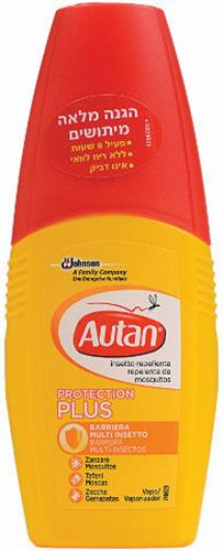 Autan -אוטן פרוטקשיין פלוס דוחה יתושים, זבובים וקרציות