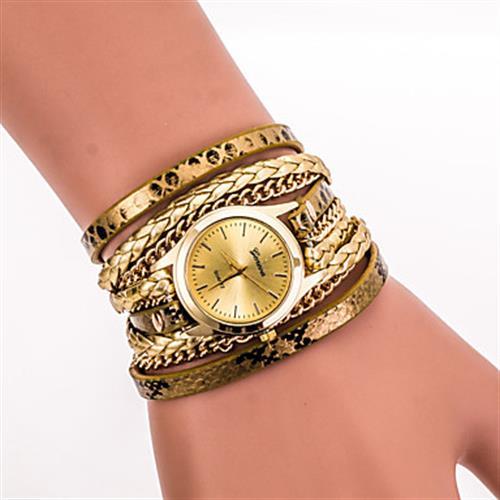 Fancy Goldish Bracelet Watch