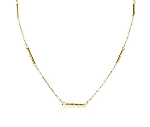 שרשרת זהב מקלות לגבר 14 קרט
