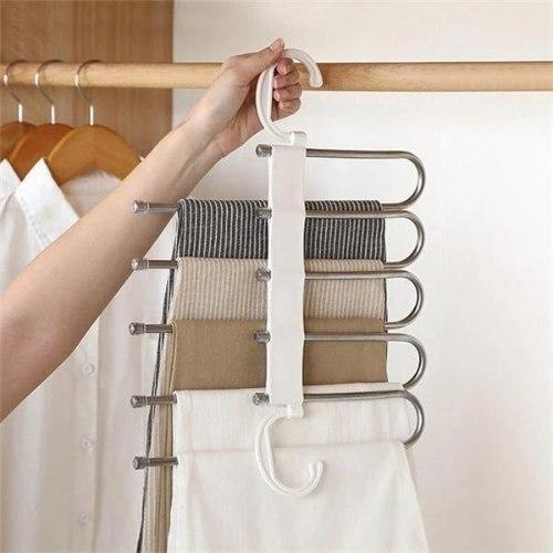 קולב מתלה בגדים 5 ב 1 - לחיסכון בארון