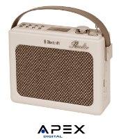APEX רמקול נייד משולב רדיו בעיצוב רטרו דגם AP1210