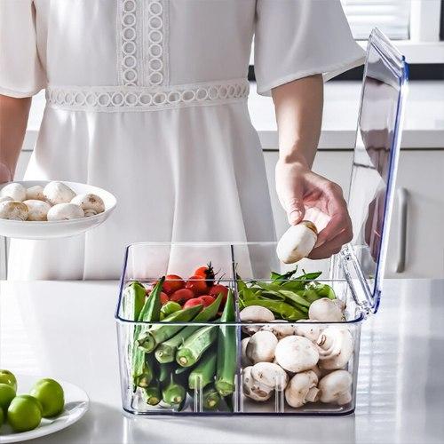 מיכל אחסון מחולק למקרר – frigbox