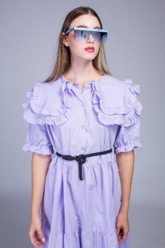 שמלת עלמה שילוב צווארון