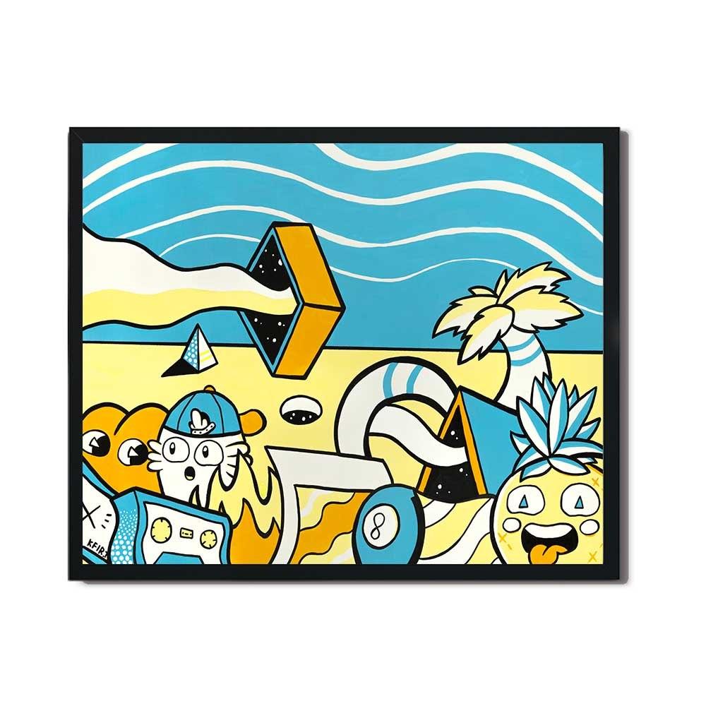 תמונה צבעונית לחדר ילדים או למשרד של האמן כפיר תג'ר