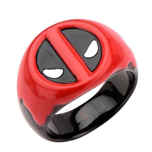 טבעת דדפול פלדת אל-חלד MARVEL לגברים / נשים