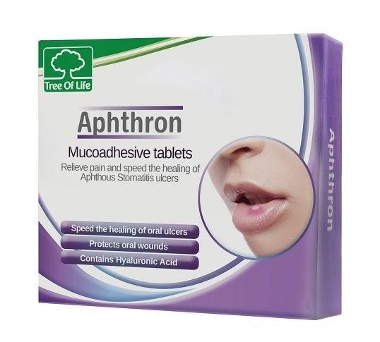 אפטרון לסיוע בטיפול והקלה בכאב במקרים של אפטות Aphthron