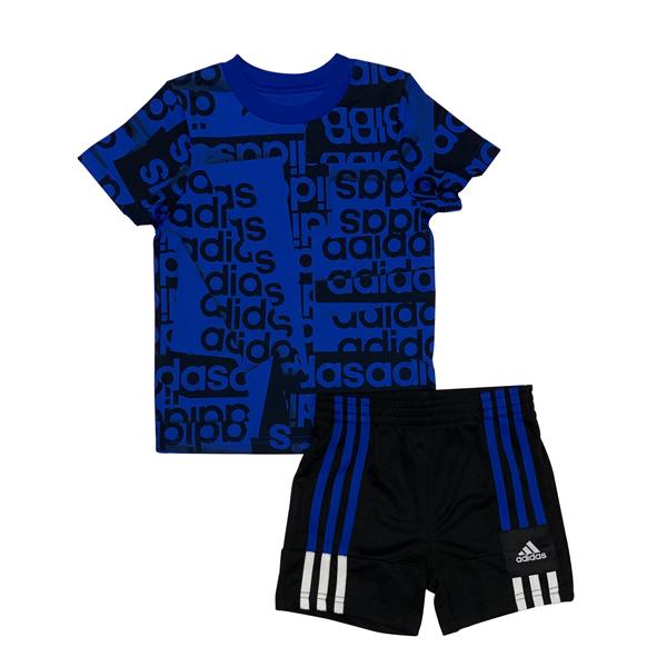 חליפת ספורט ADIDAS - כחול שחור לוגו גדול