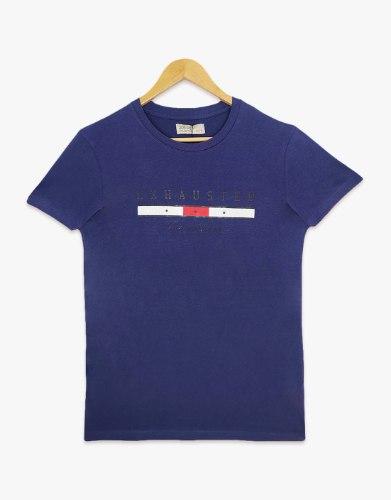 חולצת טריקו גברים מודפס EXHAUSTED