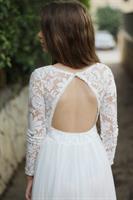 שמלת מקסי אלגנט גב פתוח