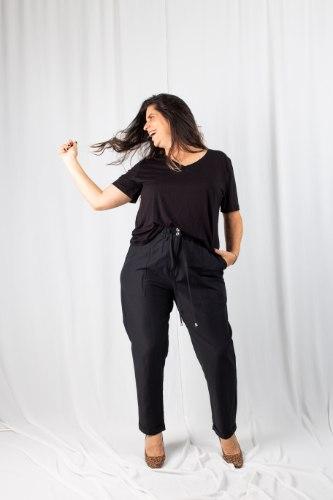 מכנסיי איידן שחור