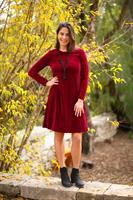 שמלת קטיפה אדומה