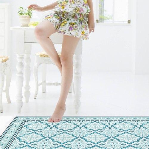 שטיח פי.וי.סי רחביה טורקיז TIVA DESIGN קיים בגדלים שונים