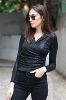 חולצת מעטפת אוסקר פאייטים