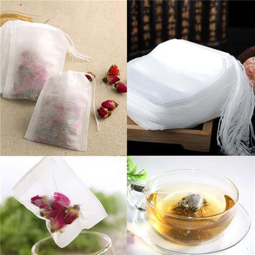 100 שקיות תה ריקות להכנת תה במרכיבים לפי בחירה