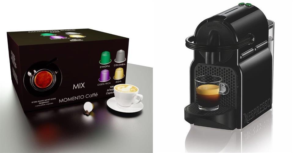 מכונת אספרסו Nespresso Inissia D40 נספרסו + 100 קפסולות מתנה.