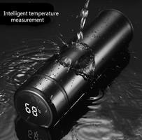 תרמוס חכם עם צג טמפרטורה לקר וחם- Thermostemp