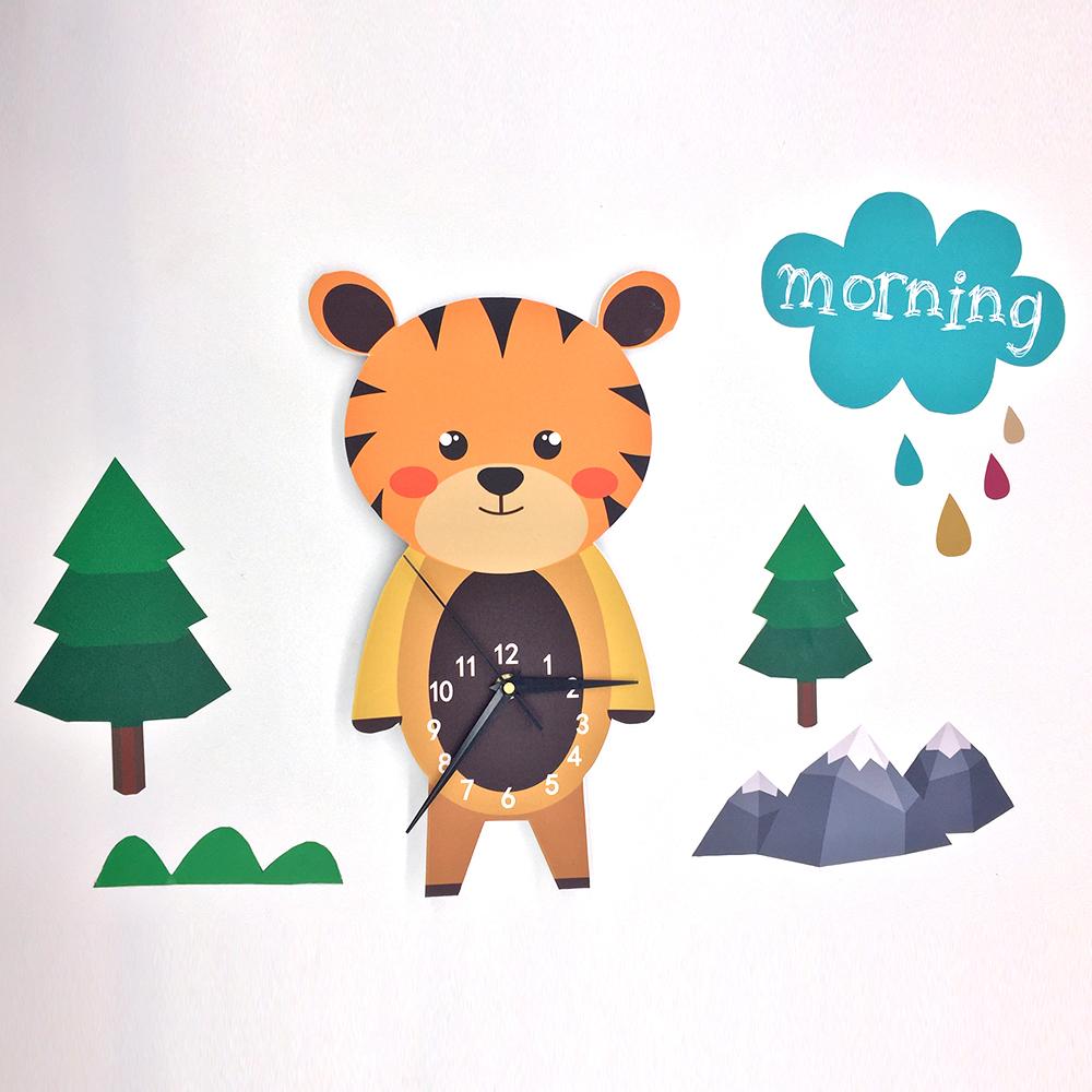 שעון קיר מעוצב- בוקר דוב