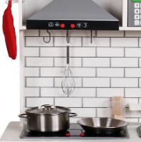 spty493 - מטבח עץ צעצוע מדהים בצבע לבן לילדים כולל אביזרי מטבח , תאורה בארונות וצלילים בתנור, צעצועץ