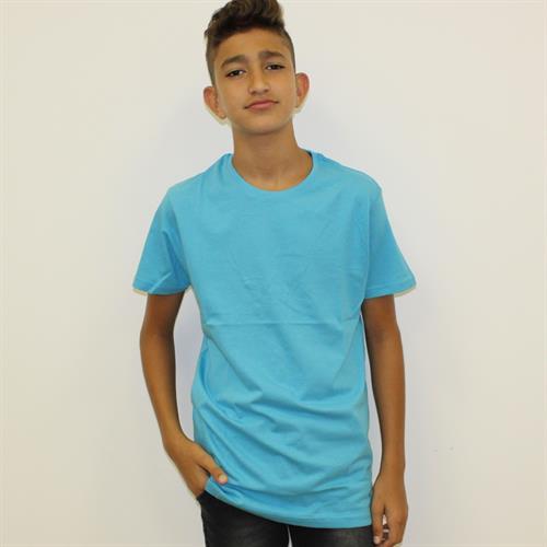 חולצת בית ספר בנים מעוגל טורקיז