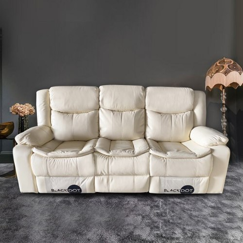 ספה 3 מושבים ג'ק מרלו (עור בז ')
