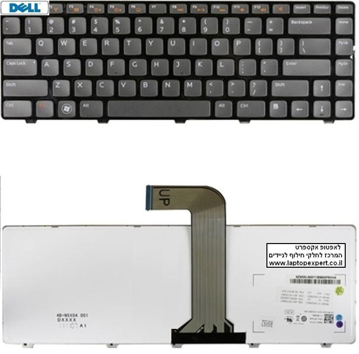 החלפת מקלדת למחשב נייד דל Dell VOSTRO 2520 3350 1440 V1440 V1450 1450 V131 Keyboard - 04341X , 9Z.N5XSW.00U , NSK-DX0SW